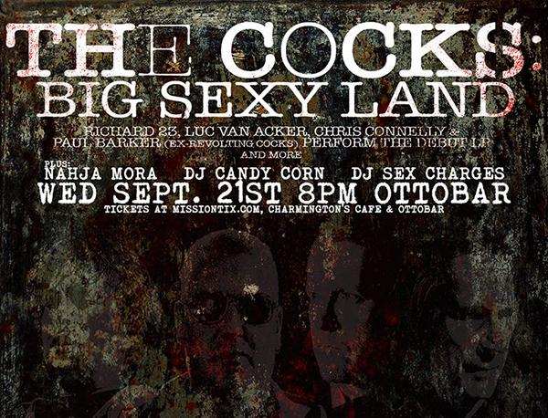 THE COCKS, Nahja Mora, Dj Sex Charges, Dj Candy Corn OTTOBAR 9/21